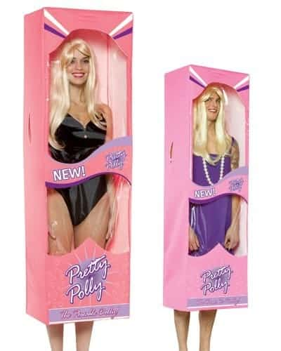 Barbie in a box funny costume be a lifesize barbie