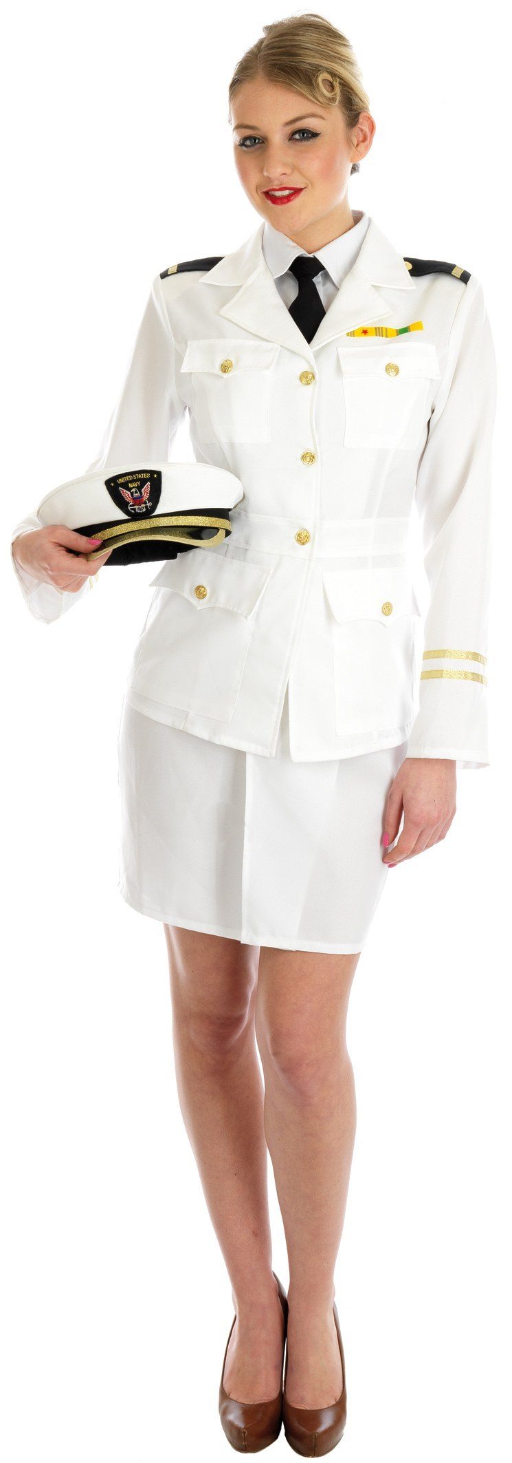 plus size 1940s lady naval officer