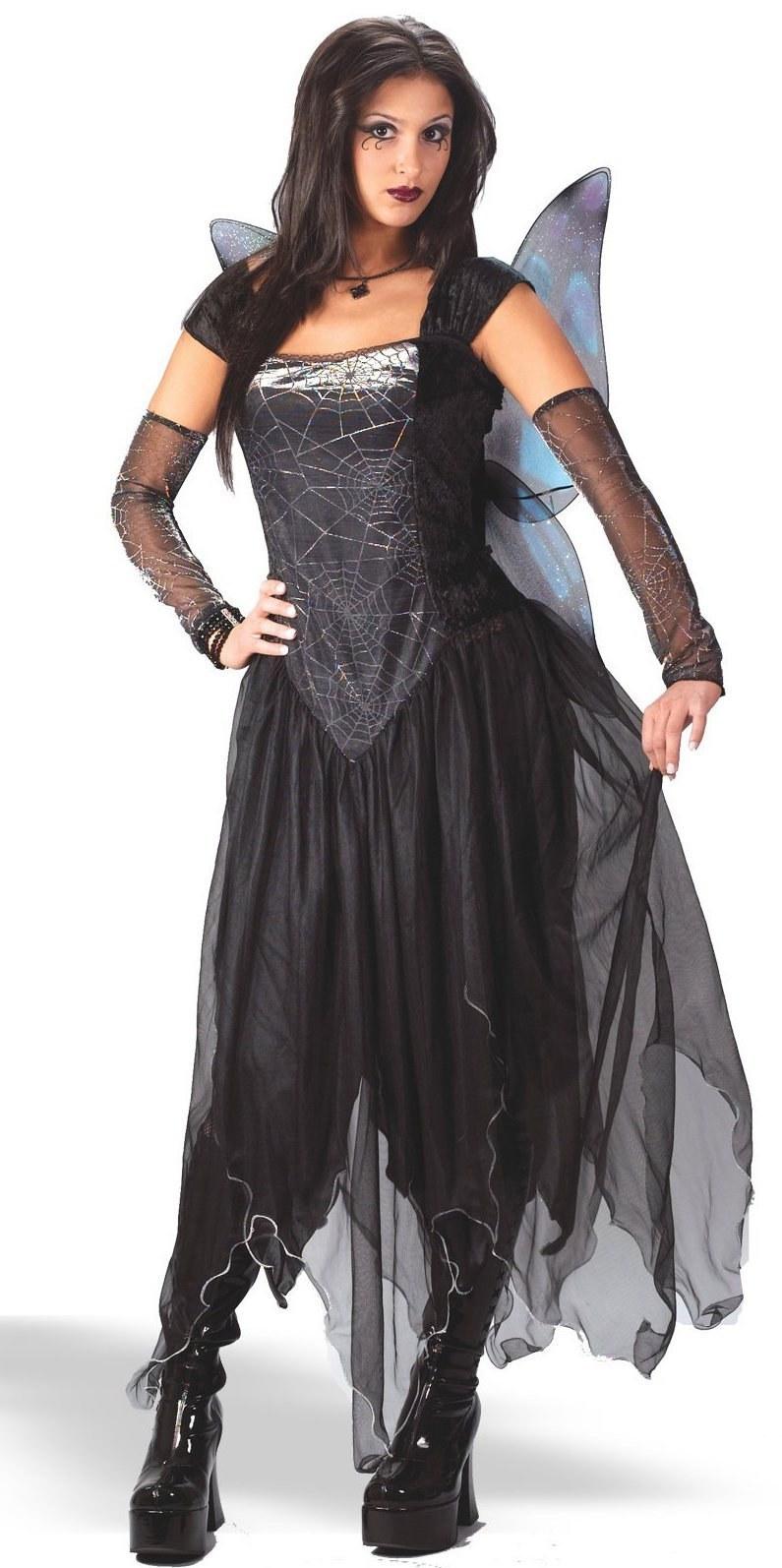 Ladies Goth Fairy Princess Costume