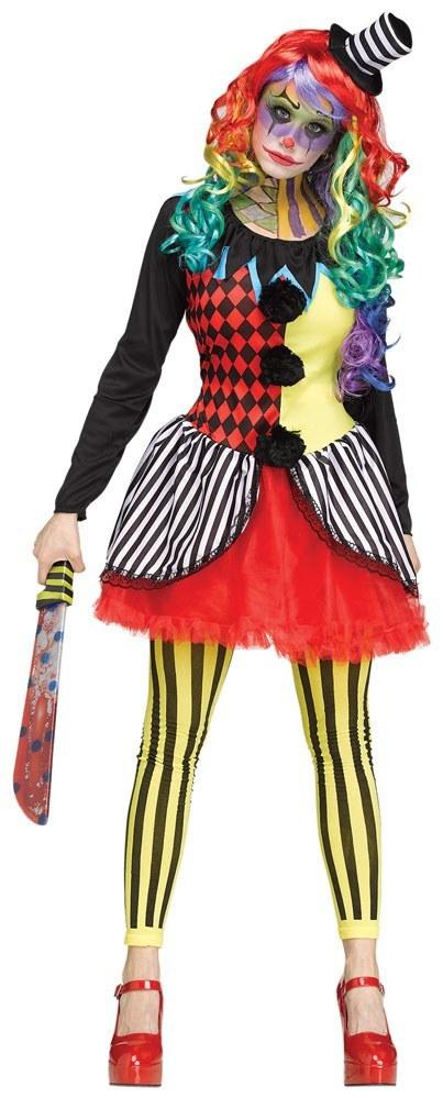 Ladies freak show clown costume for Tattoo freak costume