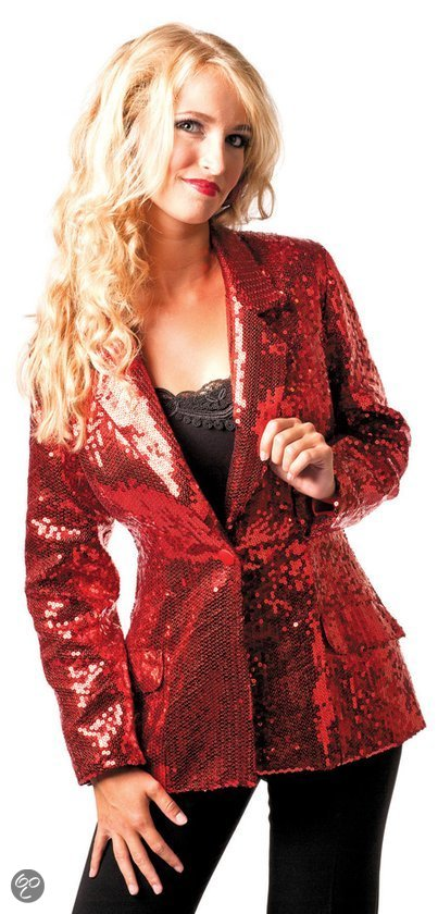 Ladies Red Sequin Jacket