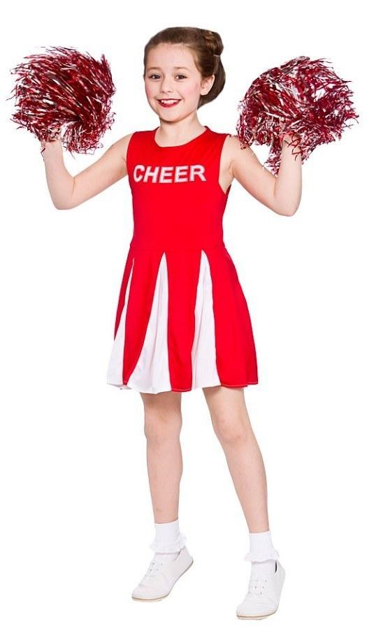 Teen Red Cheerleader Costume