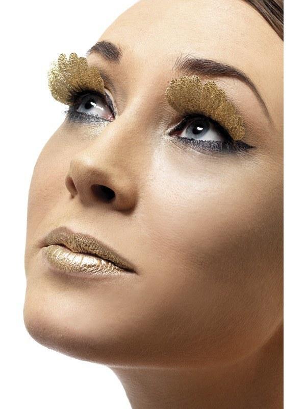 Feather Eyelashes Gold