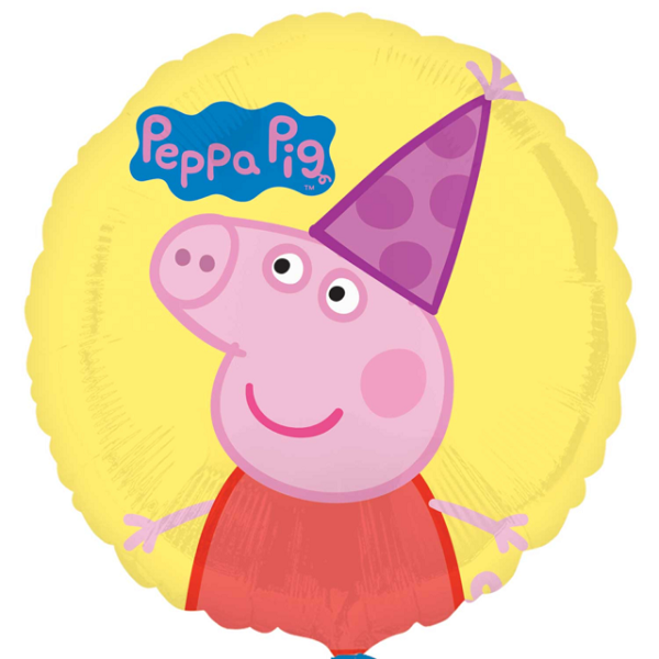 Yellow Peppa Pig Foil Balloon 17
