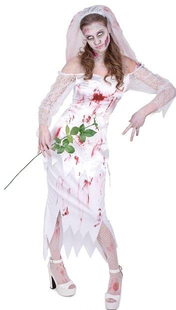 Zombie Bride Fancy Dress Costume