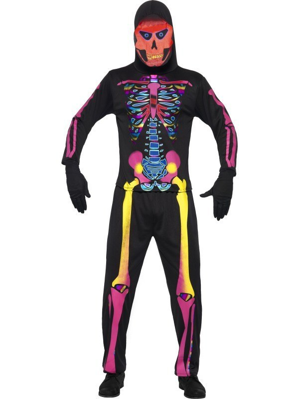 Adult Neon Skeleton Costume