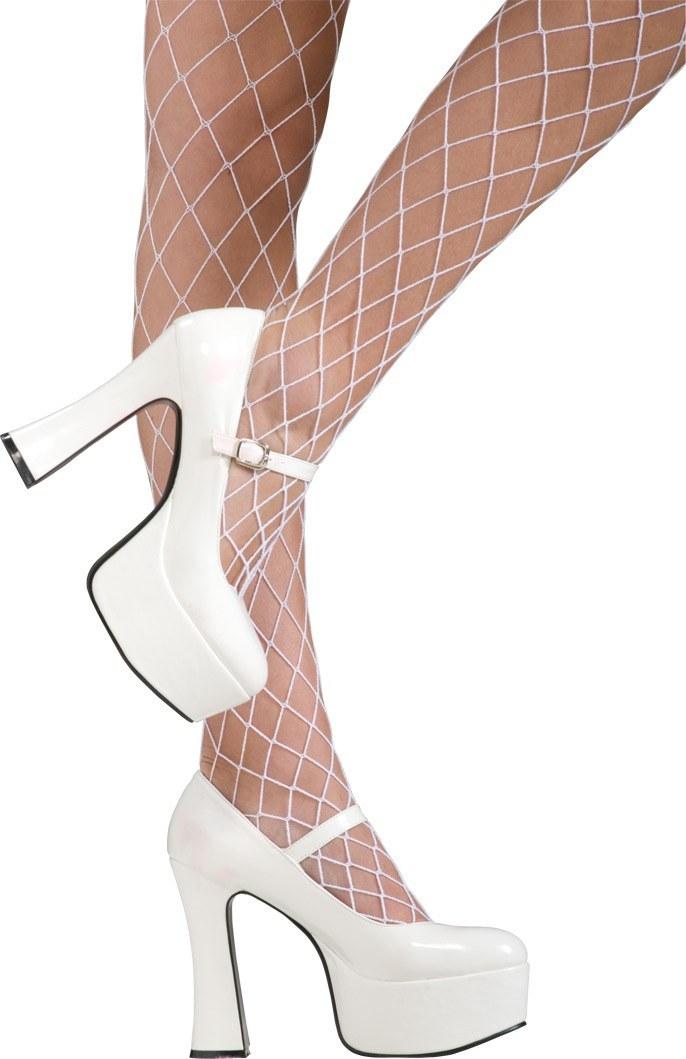 White mary jane shoes