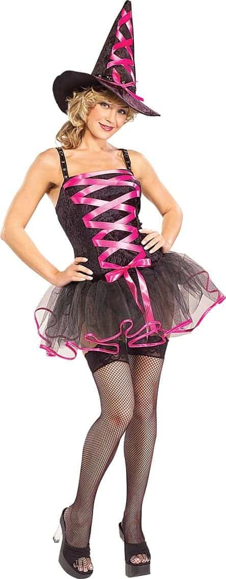 Pink Ballerina Adult Witch Costume