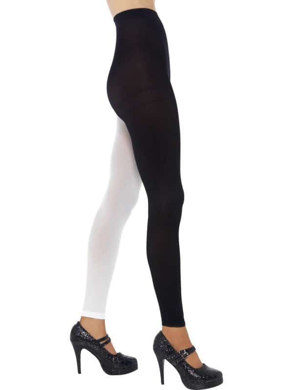 Home costume accessories footless tights black amp white