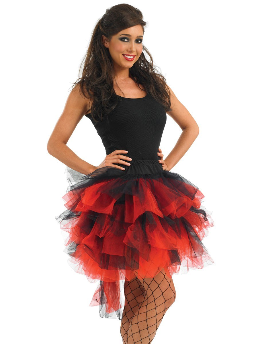 redblack burlesque tutu with tail