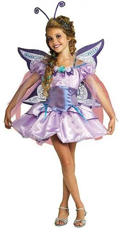 Kids Lavender Butterfly Costume