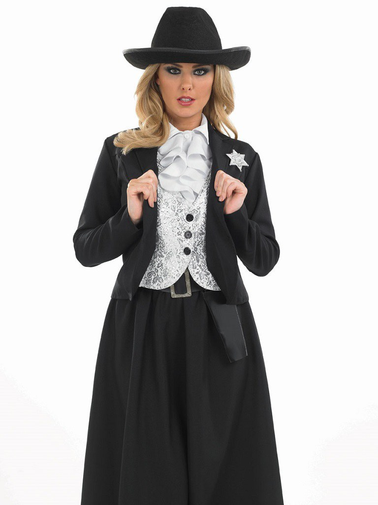 plus size old time female sheriff costume. Black Bedroom Furniture Sets. Home Design Ideas