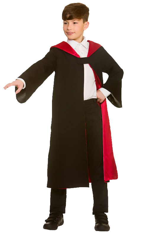 ADULTS WIZARD ROBE MAGIC HALLOWEEN FANCY DRESS COSTUME UNISEX MENS SCHOOL
