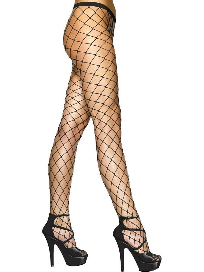 Sexy Diamond Fishnet Tights Black