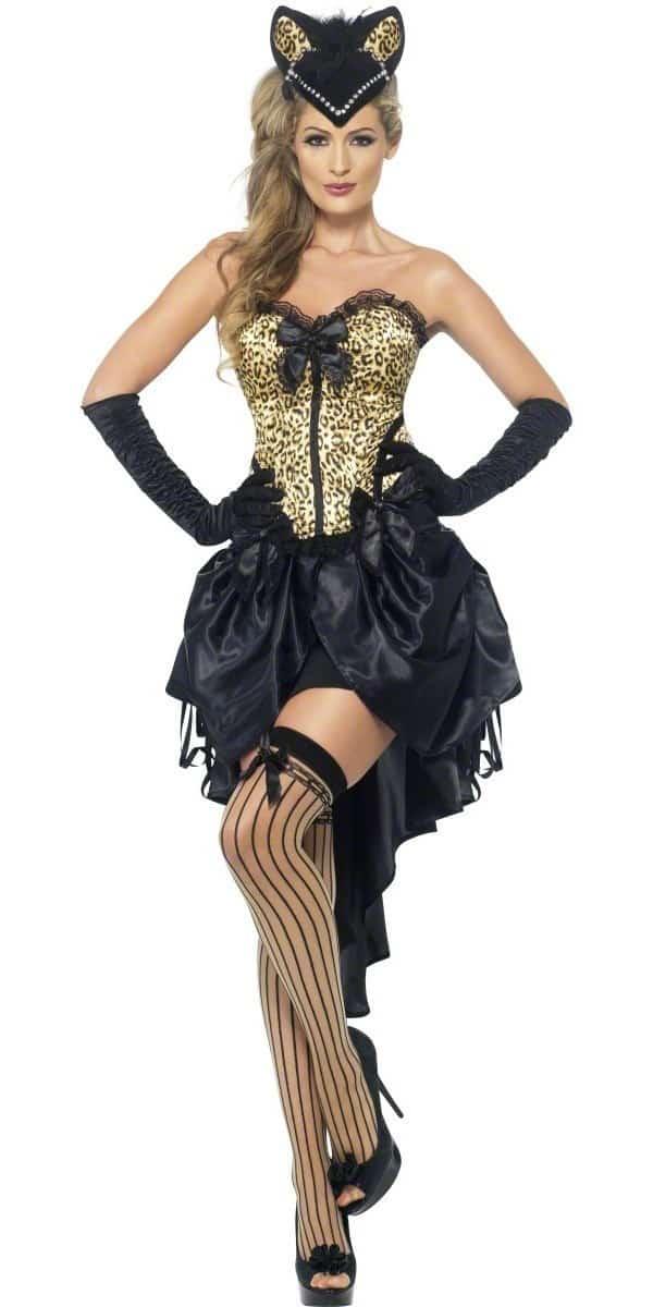 ladies burlesque kitty costume. Black Bedroom Furniture Sets. Home Design Ideas