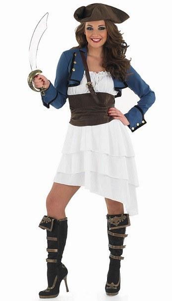 Plus Size Ra Ra Pirate Girl Costume