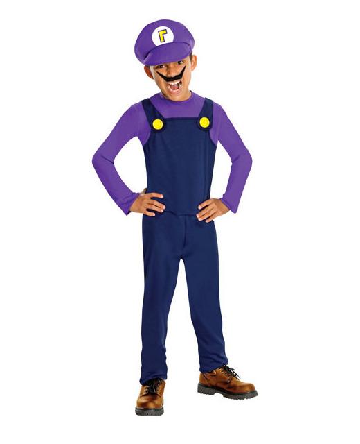 super mario waluigi kid s costume