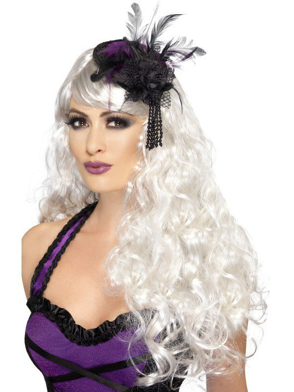 Purple and Black Gothic Fascinator 299a968eed4