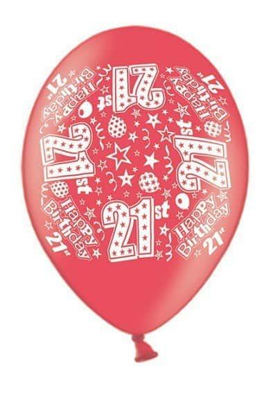 21st Happy Birthday Latex Balloon