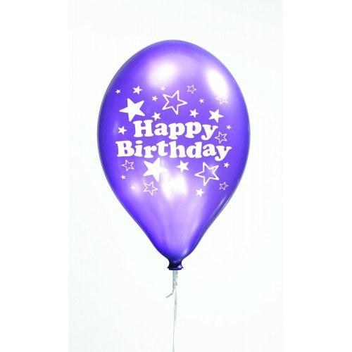 Purple Birthday Balloons