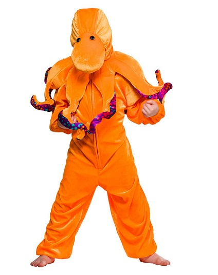 Children S Orange Octopus Costume