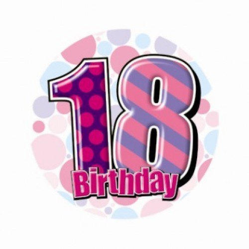 Home party supplies happy 18th birthday badge