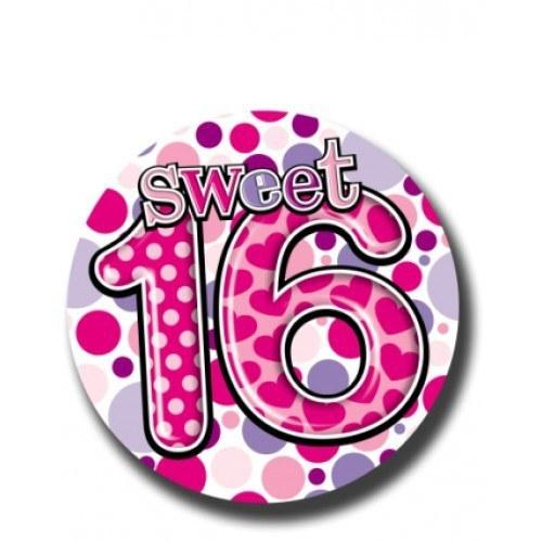 Purple Sweet 16th Birthday Badge
