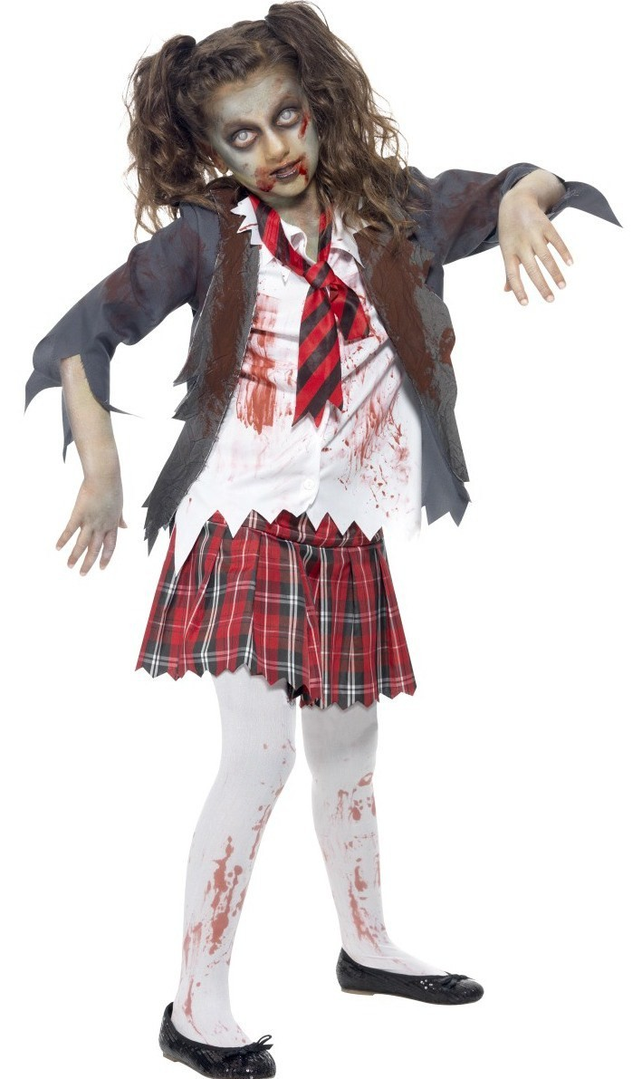 Girls Zombie School Girl Costume , Kids