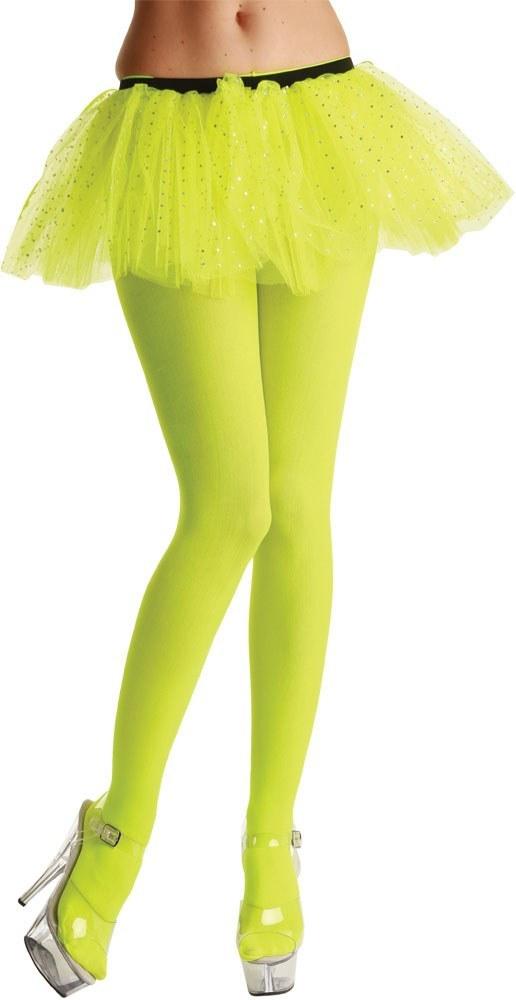 Ladies Neon Yellow Tights