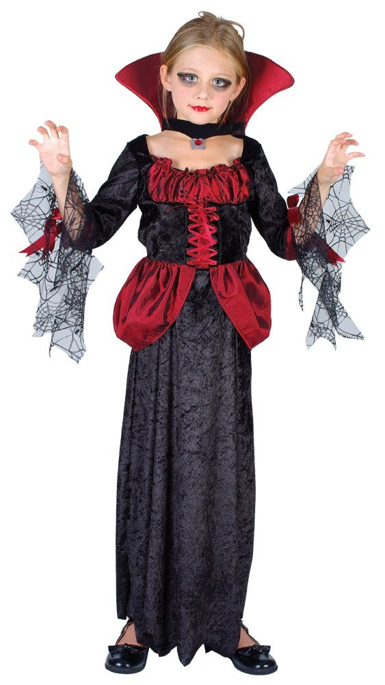 Girls vampire countess costume - Deguisement halloween petite fille ...