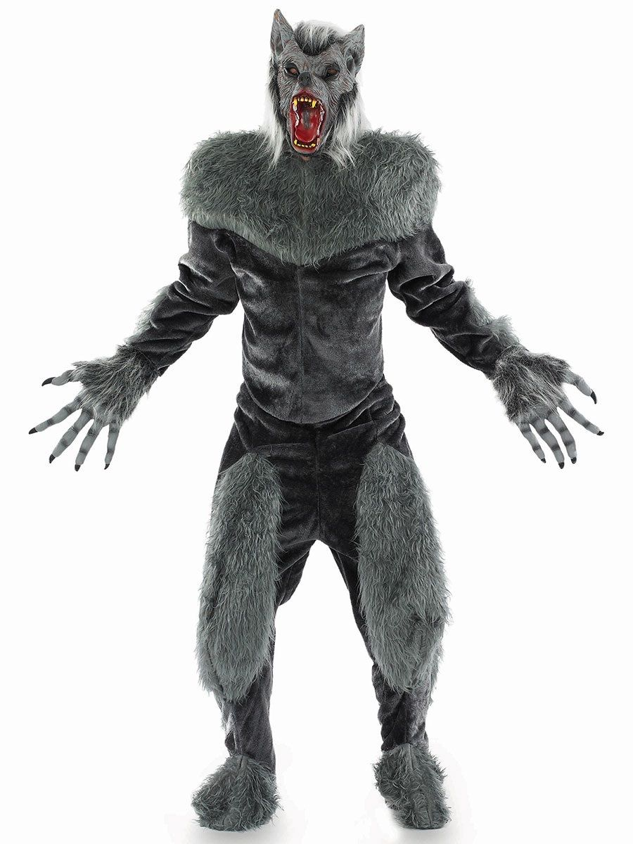 Deluxe Werewolf Fancy Dress  sc 1 st  The Costume Shop & Grey Deluxe Werewolf Fancy Dress