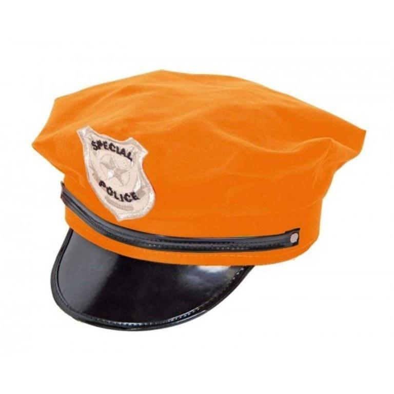 Home costume accessories police hat neon orange