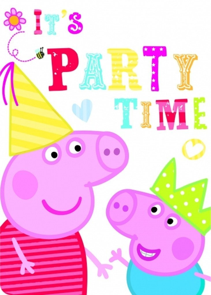 Peppa Pig Party Invitations 6 Pack