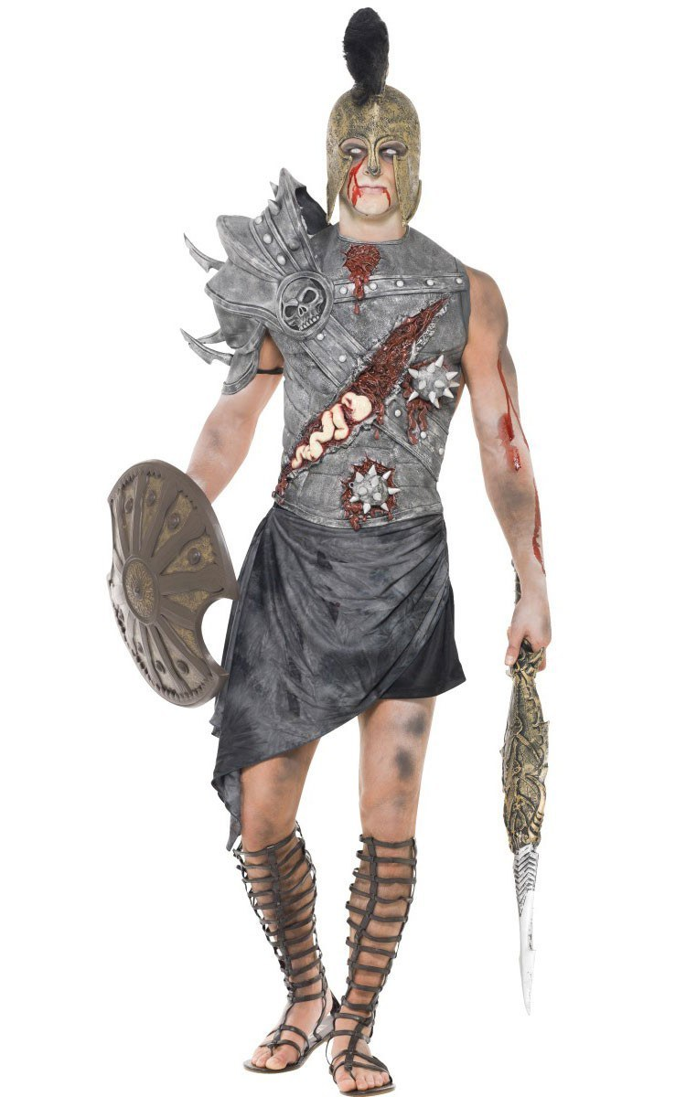 men 39 s zombie gladiator costume. Black Bedroom Furniture Sets. Home Design Ideas