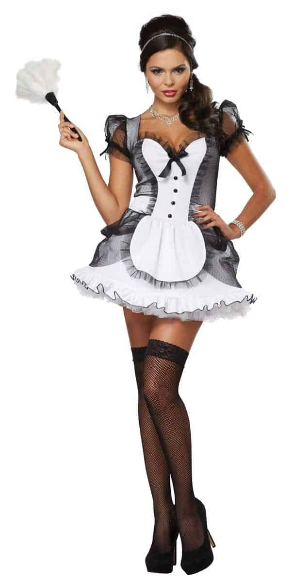 luxe french maid costume the costume shop ireland. Black Bedroom Furniture Sets. Home Design Ideas
