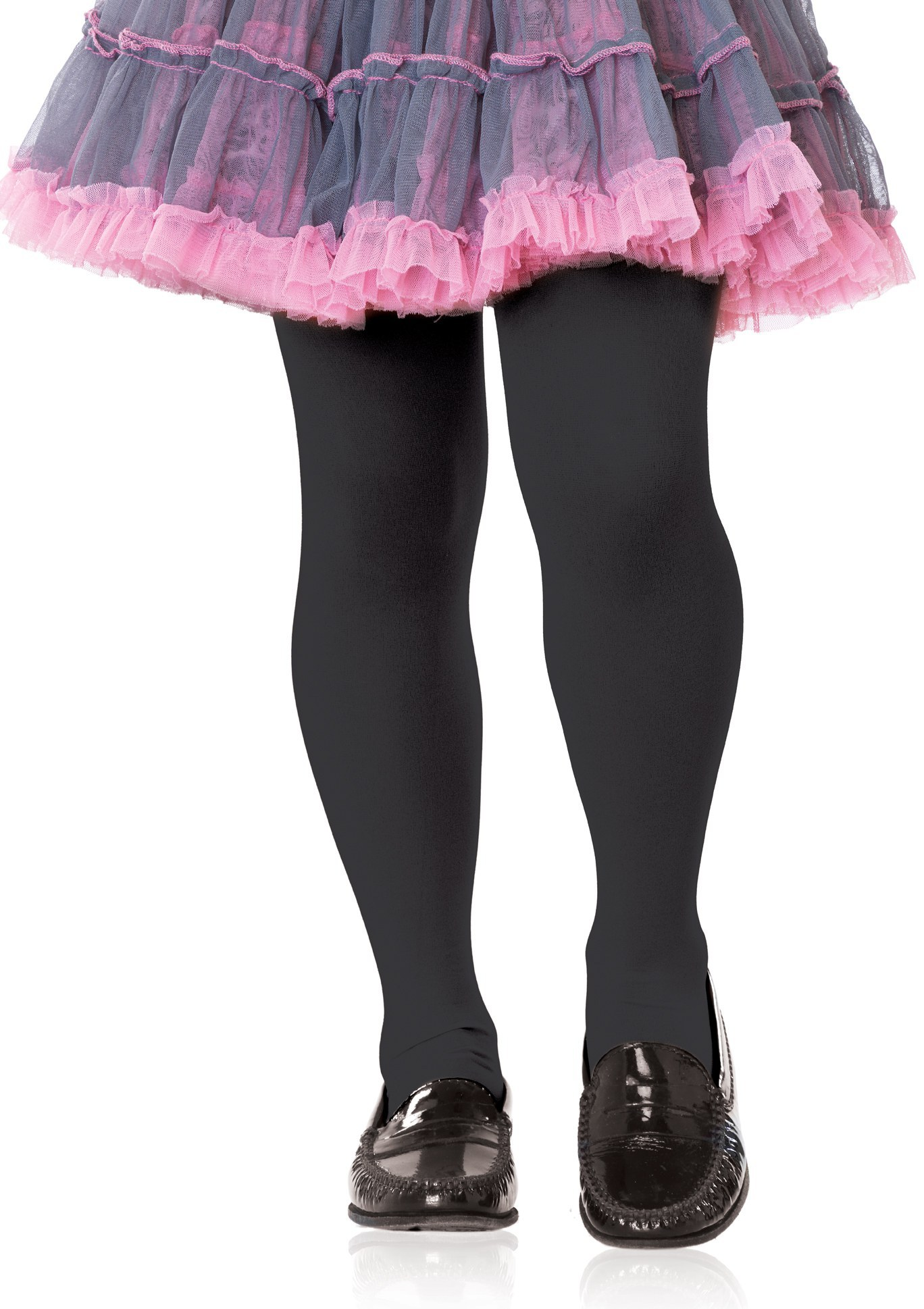 Girls Opaque Tights Black