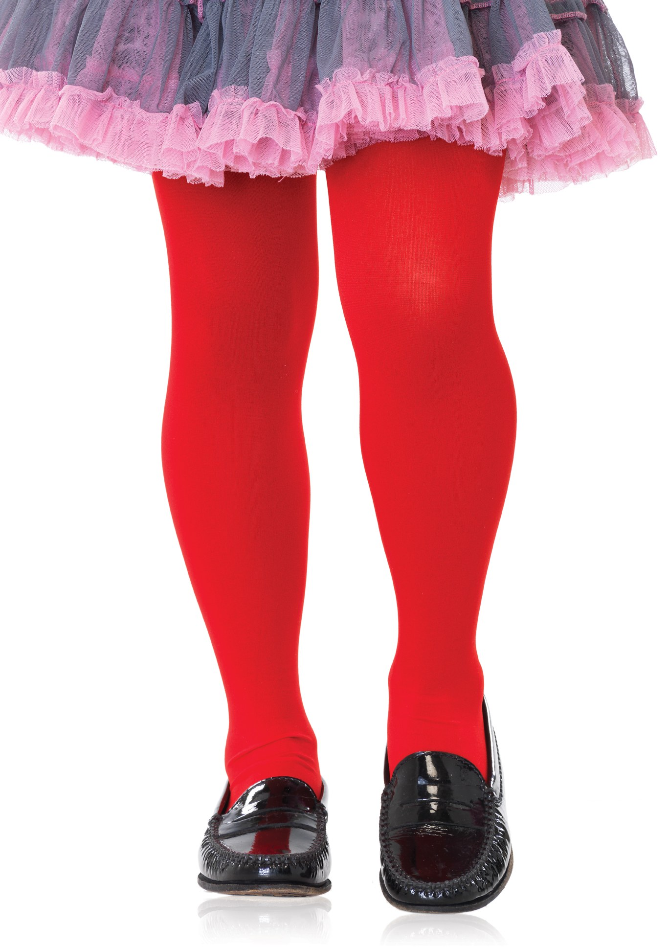 Girls Opaque Tights Red