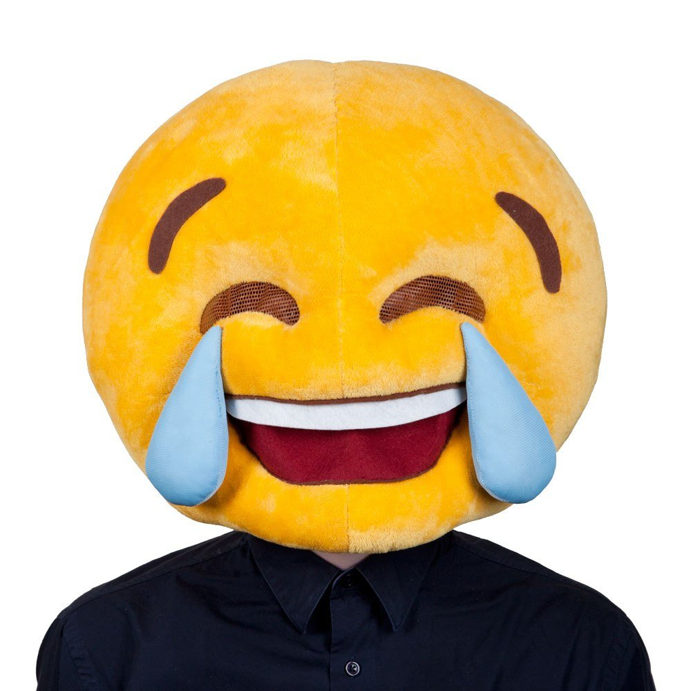 Crying Laughing Emoticon Mask