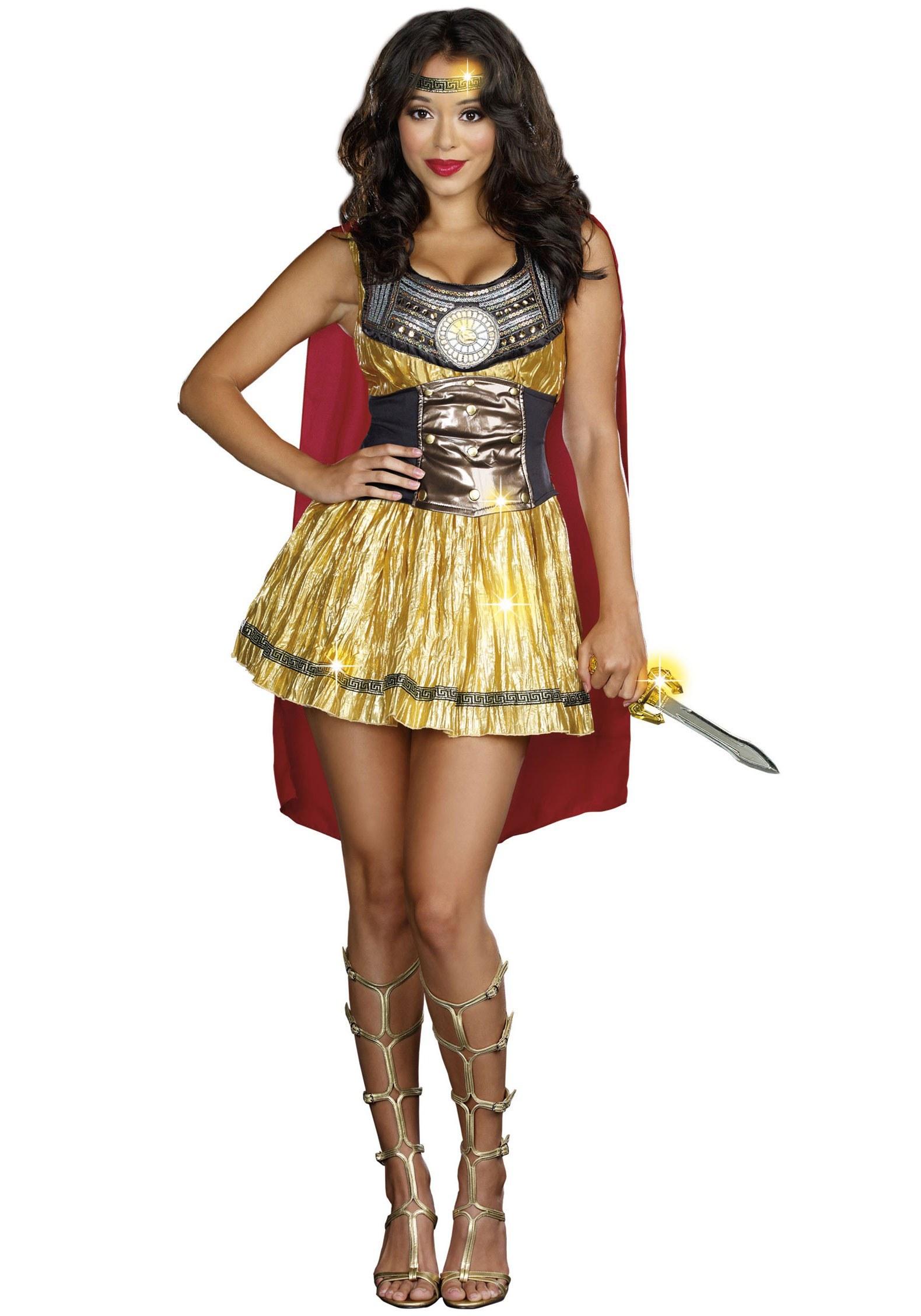 Ladies Golden Gladiator Costume