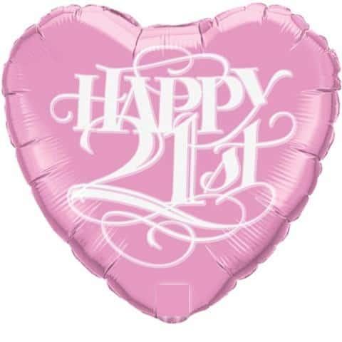 Happy 21st Birthday Helium Balloon 31