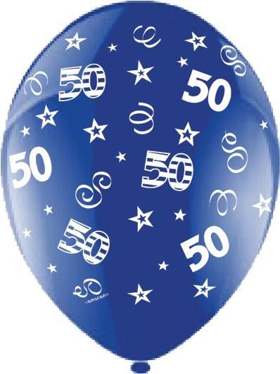 50th Birthday Blue Lates Balloons