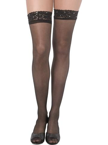 Black Lace Stockings