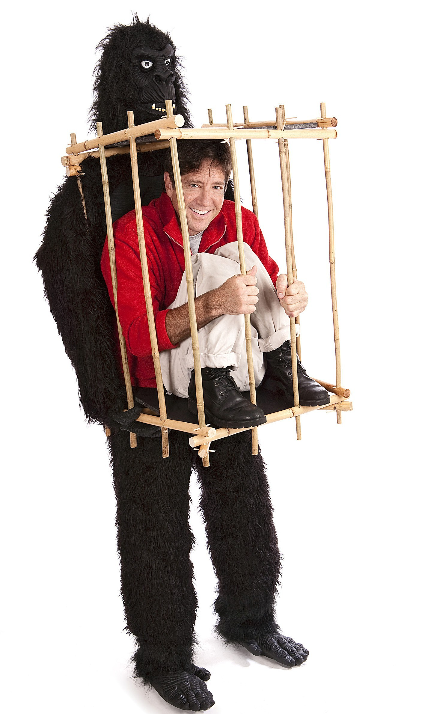 gorilla and the cage funny costume. Black Bedroom Furniture Sets. Home Design Ideas