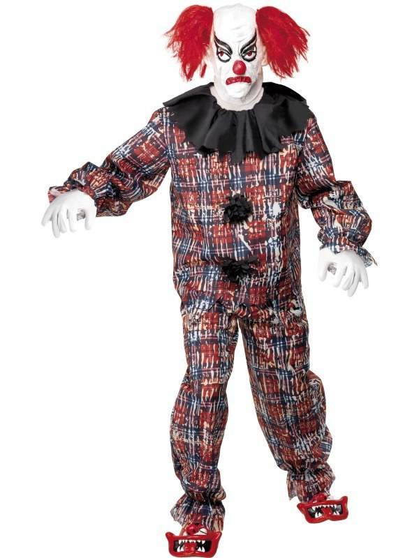 Zombie Alley Scary Clown Costume