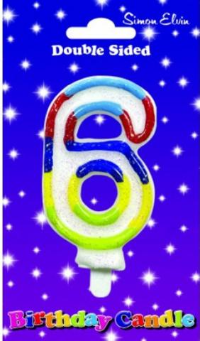 Birthday Number Candle - 6