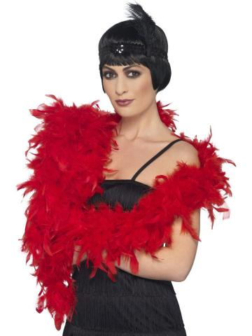 Deluxe Feather Boa - Red