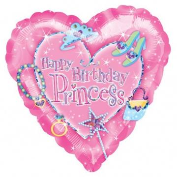 Happy Birthday Princess Foil Balloon - 18""