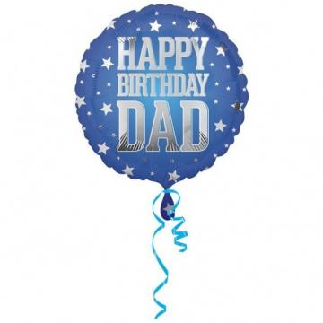 Happy Birthday Dad Foil Balloon - 17""