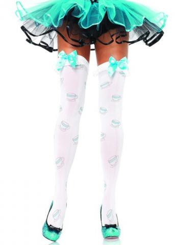Tea Cup Thigh High Stockings
