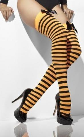 Striped Hold-Ups - Orange/Black